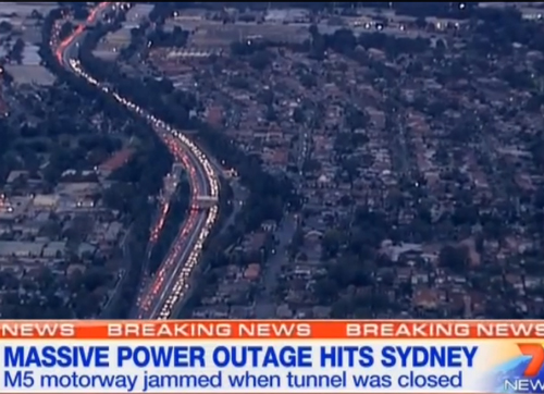 Výpadek elektřiny v Sydney