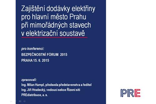 Bezpečnostní fórum 2015 - MHMP